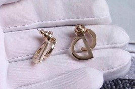 AUTH CHRISTIAN DIOR Pearl Your Dior Earrings Gold image 7