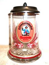 Mainbrau Kulmbach lidded German Beer Glass Seidel - $14.95