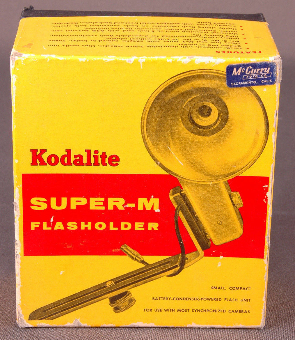 Primary image for Vtg Kodalite Super-M Flashholder-No 751 Brown-Box-Photographic Equiptment-Camera