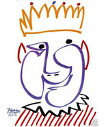 PICASSO SIGNED 1964 LITHOGRAPH w/COA wOw King Pablo STUNNING AFFORDABLE ... - $195.00