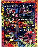 RIZZI 2010 LITHOGRAPH $ friends PARTY ART € gift exclusive print James R... - $127.04