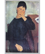 MODIGLIANI 1935 LITHO PRINT w/COA. invest £ Amedeo Modigliani Art VERY R... - $295.00