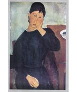 MODIGLIANI 1935 LITHO PRINT w/COA. invest £ Amedeo Modigliani Art VERY R... - $295.00