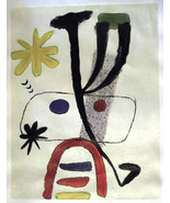Joan Miró HAND PAINTED OIL ON CANVAS after FAMOUS LITHOGRAPH $ € UNIQUE ... - $182.88