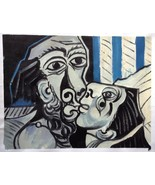PABLO PICASSO € HAND PAINTED OIL after Picasso 1969 THE KISS $ RARE ART ... - $196.04