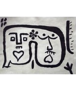 SUPERB HAND PAINTED OIL AFTER PAUL KLEE wonderful exclusive gift of RARE... - $178.67