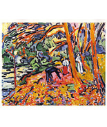 Maurice Vlaminck 1942 GRAVURE PRINT w/COA. celebration of colour & COOL ... - $169.00