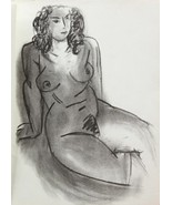HENRI MATISSE LITHOGRAPH w/COA. sexy nude Vintage print 1952 Litógrafo R... - $185.03