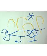 Joan Miró litógrafo w/COA. gift of magical MIRO LITHOGRAPH 1962 RARE VIN... - $166.61