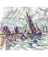 SIGNAC 1942 GRAVURE with COA UNIQUE GIFT. superb edition of Paul Signac ... - $179.00