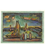 ROUAULT 1942 GRAVURE w/COA. Unique Exclusive GEORGES ROUAULT print VERY ... - $195.00