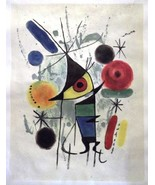 MIRO. GENUINE HANDPAINTED OIL ON CANVAS after Joan Miró, Unique gift of ... - $179.00