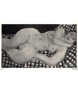 MATISSE SIGNED 1935 LITHOGRAPH w/COA. VERY SEXY & VERY RARE HENRI MATISS... - $195.00