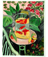 HENRI MATISSE HAND PAINTED OIL ON CANVAS after The Gold Fish. exclusive ... - $183.45