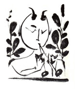 PABLO PICASSO LITHOGRAPH w/COA 1950 $ € invest in FAUN between branches ... - $189.00
