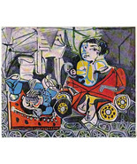 PABLO PICASSO 1955 LITHO PRINT with COA. € UNIQUE ART £ JOYFUL PICASSO R... - $179.00
