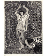 MATISSE LITHOGRAPH with COA. £ 1935. € $ TAMBOURIN £ Henri Matisse VERY ... - $165.16