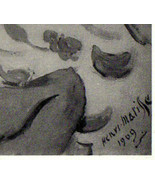 HENRI MATISSE LITHOGRAPH SIGNED w/COA. EXCLUSIVE PRINT of CLASSIC 1930s ... - $191.54