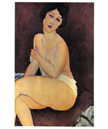 MODIGLIANI 1942 GRAVURE PRINT w/COA. BEAUTIFUL Amedeo Modigliani art. RA... - $295.00