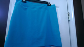 Nwt Ladies Adidas Turquoise Solar Blue Knit Pull On Golf Tennis Skort - Size 8 - $29.99
