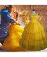Beauty and the Beast Belle Cosplay Costume Disney Halloween Party Dress  - $98.01+