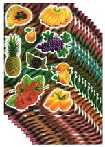 A164 VALUEPACK 10X Fruits Banana Kindergarten Craft Sticker 27x18cm/10x7... - $16.99