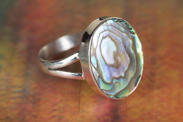 Charming 925 Abalone Shell Gemstone Silver Ring... - $11.99 - $13.99
