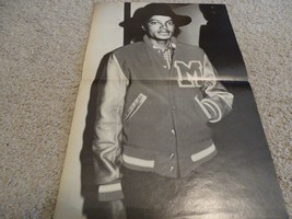 Michael Jackson teen magazine poster clipping Leather jacket Triller Rockline