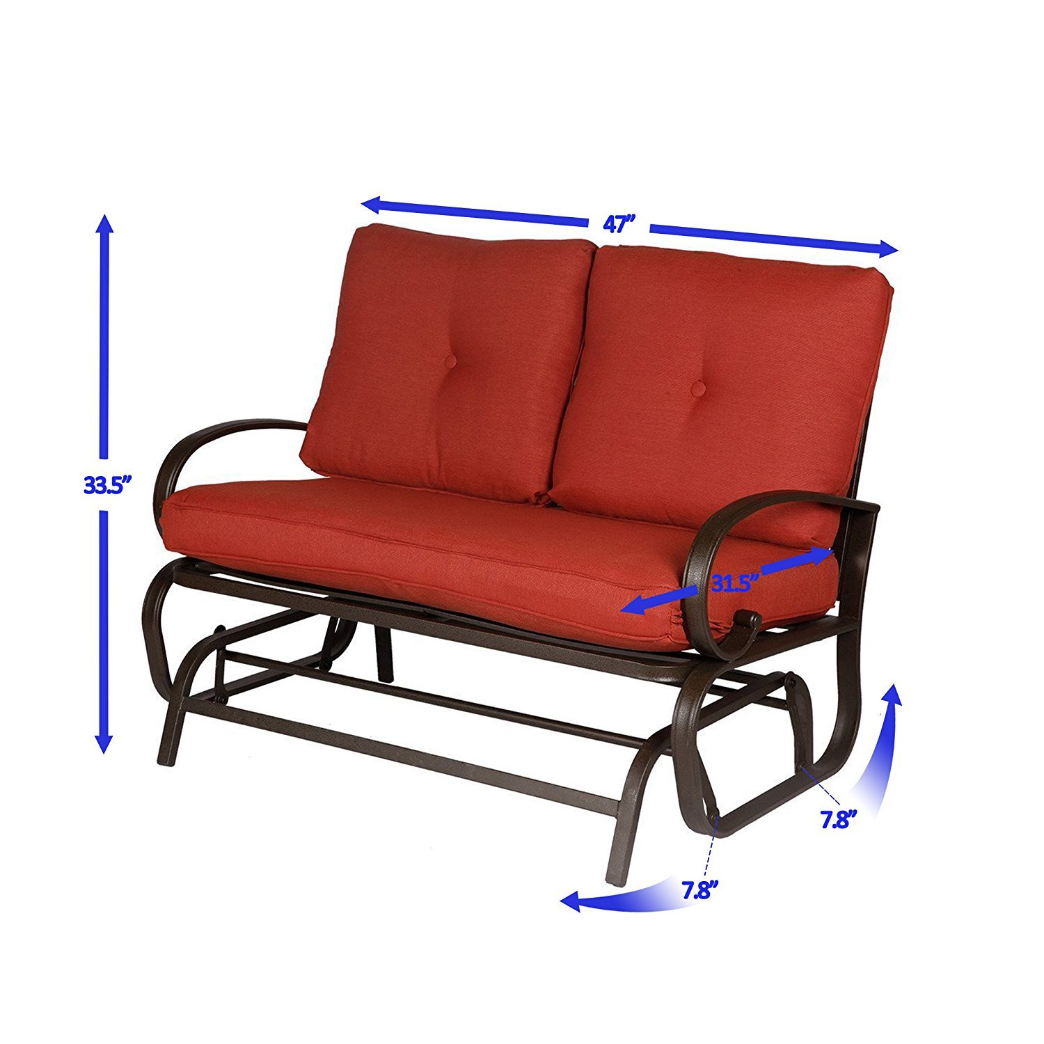Outdoor Patio Loveseat Furniture Garden Yard Lounge Glider Bench Rocking Chair