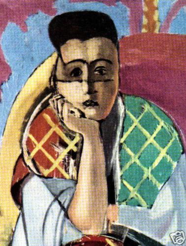 MATISSE SIGNED 1935 LITHO PRINT w/COA. £ Henri Matisse Classic Vintage RARE ART