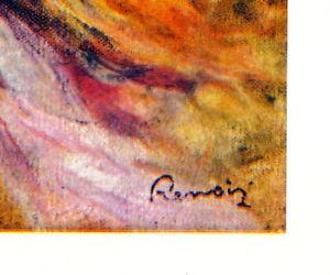 RENOIR Signed GRAVURE w/COA 1942 Engraving. Pierre Auguste Renoir RARE ART PRINT