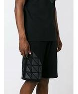 Designer Long Black Shorts for Men Giuliano Fujiwara Fashion Bottoms 100... - $135.44