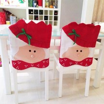 Mrs Santa Claus Christmas Dinner Banquet Chair Back Cover Xmas Party Hom... - €4,26 EUR