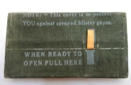 1944 antique WWII US ARMY unused COVER AGAINST BLISTER GASES khaki military - $42.50