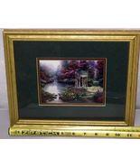Thomas Kinkade Garden Of Prayer Accent Print Framed And Matted 9x11 COA - $56.09
