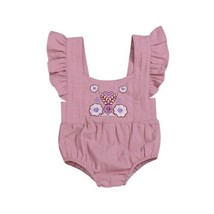 Newborn Rose embroidery Bodysuits 2019 Baby Girl Cotton Bodysuit One Pie... - $8.69