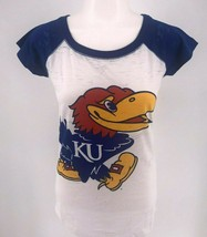 NWT NCAA Kansas University Jayhawks KU Ladies Fitted Crew Neck T-Shirt - $12.95