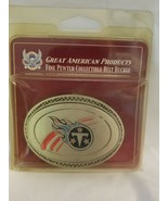 Tennessee Titans Commemorative Belt Buckls - Pewter - Great American Pro... - $11.83