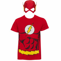 The Flash Mask Costume Tee Shirt Red - $27.98
