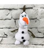 Disney Frozen Olaf Snowman Plush White Smiling Happy Stuffed Animal Soft... - $7.91