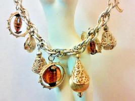 "Vintage Jewelry: 7 1/2"" Gold Tone Charm Bracelet 01-01-2019 - $14.84"