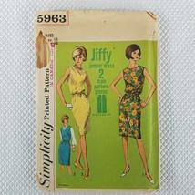 1965 Simplicity Pattern 5963 Jiffy Dress Jumper Simple Sew Size 16 Uncut... - $11.10