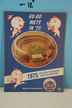1975 New York Go Go Mets Baseball Program & Scorecard - Scored - $9.99