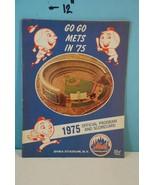 1975 New York Go Go Mets Baseball Program & Scorecard - Scored - $9.99