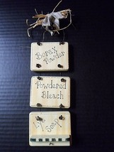 """Wall Plaque Laundry Mud Room 11"""" Primitive Rustic Country Farmhouse Home... - $16.21"""