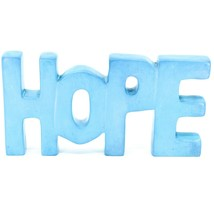 Vaneal Group Hand Carved Soapstone Sky Blue HOPE Free-Standing Word Sign Decor
