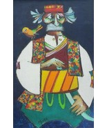 Original 1968 Signed JOVAN OBICAN (1918-1986) Judaica Art Painting on Ca... - $2,600.99