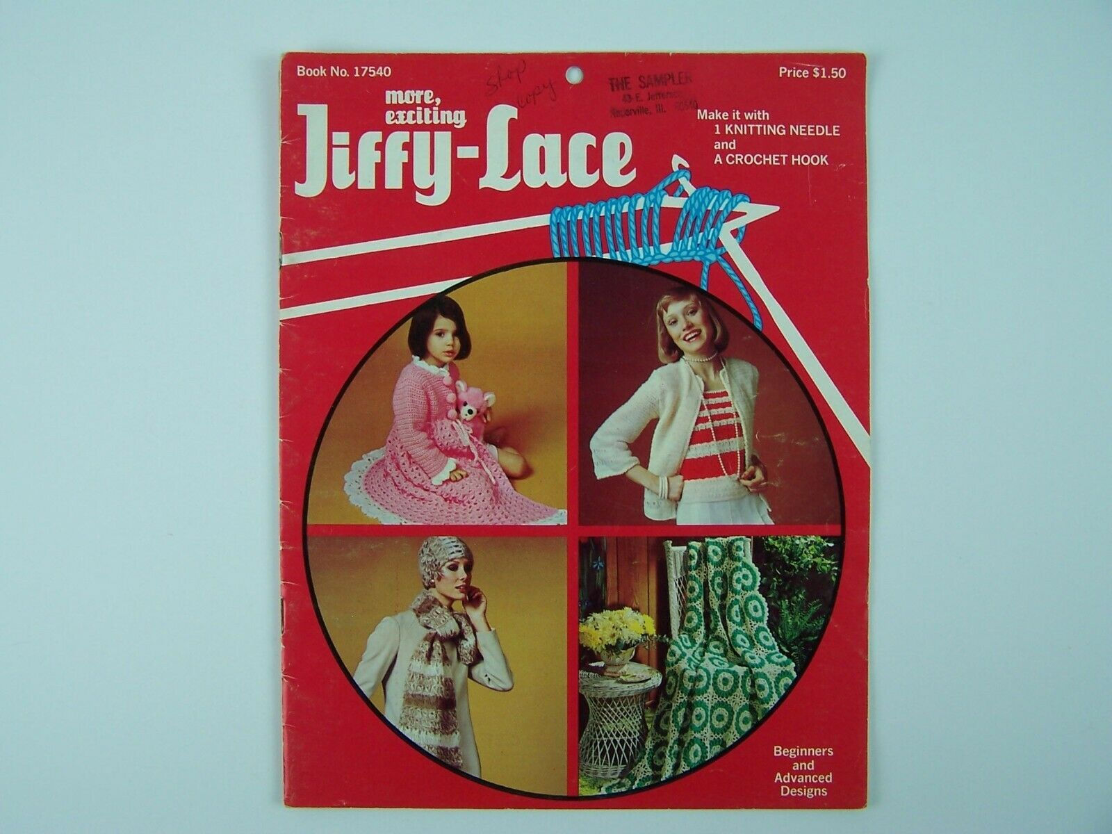 Exciting Jiffy-Lace Knitting & Crochet Pattern Booklets 1970s - $24.74