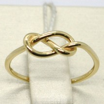 18K YELLOW GOLD INFINITE CENTRAL RING, INFINITY, SMOOTH, BRIGHT, MADE IN ITALY image 1