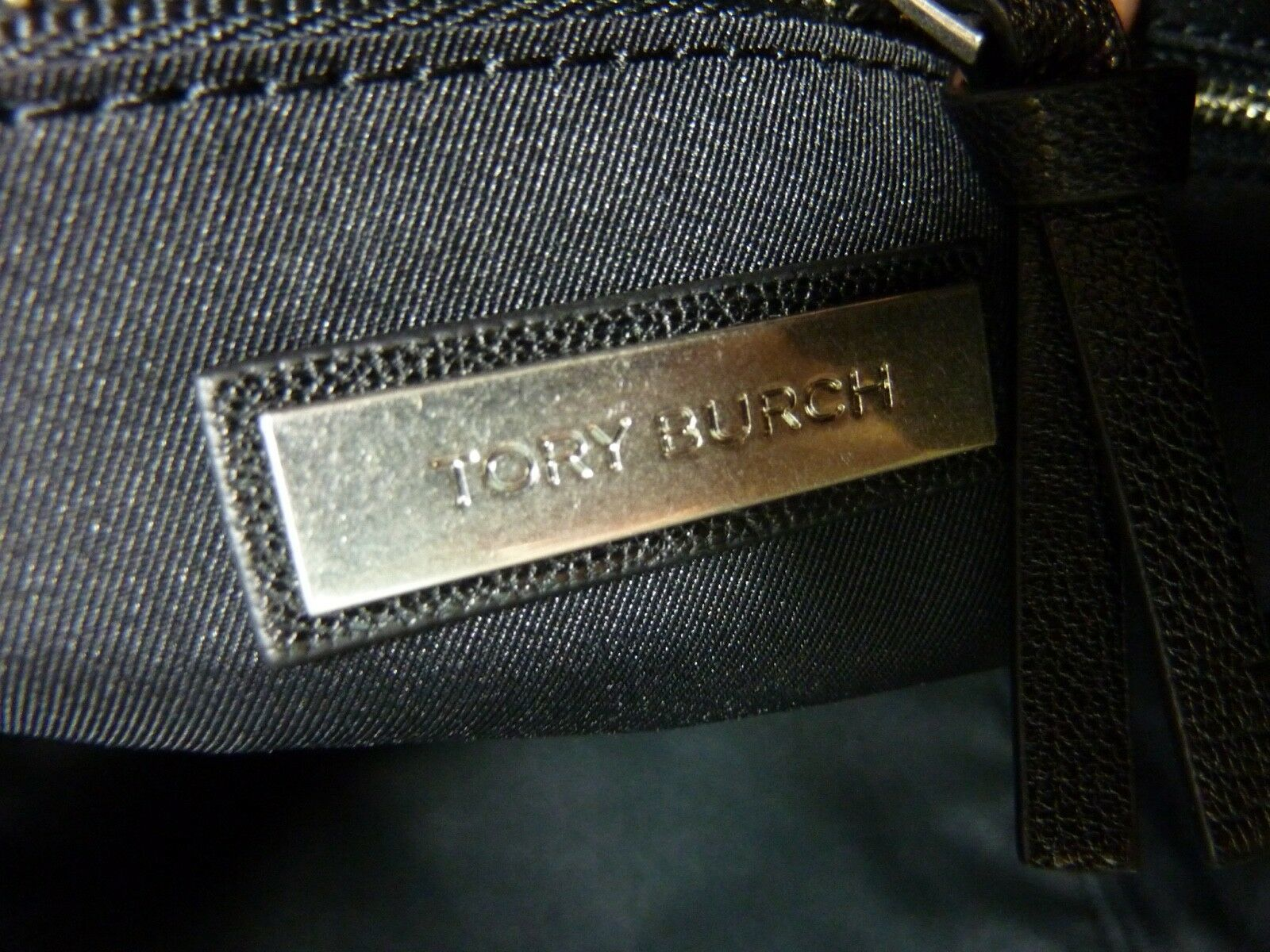 Nwt Tory Burch Schwarz Antikleder Fleming Tote image 12